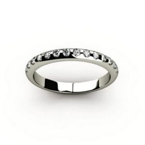 Кольцо из белого золота 585 пробы с россыпью бриллиантов 15шт.