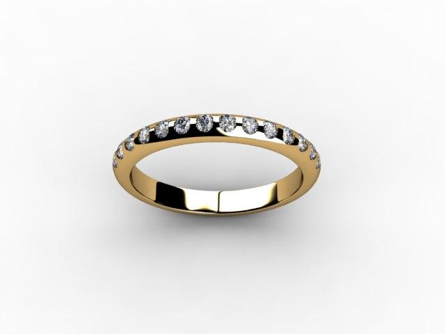 Обручальное кольцо из розового золота и 15 бриллиантов
