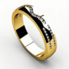 Кольцо из желтого золота 585 пробы с бриллиантами.
