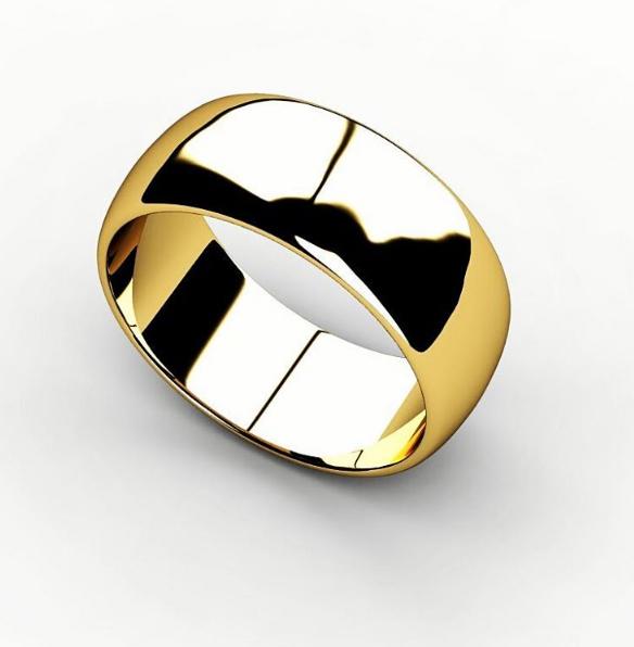 Обручальное кольцо из жёлтого золота 585 пробы