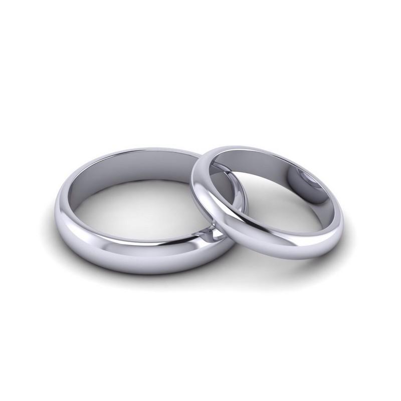 Классическое обручальное кольцо (белое золото)