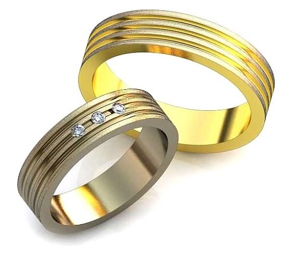 Обручальное кольцо с бриллиант, фианит или любой другой. Круг 1.74мм-3шт.