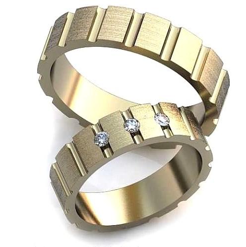 Обручальное кольцо с гранями обр0012