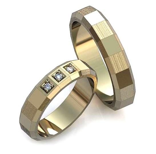 Обручальное кольцо с гранями обр0013
