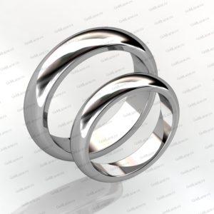 Обручальные кольца из белого золота на заказ