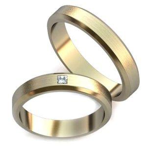 Обручальное кольцо с одной вставкой