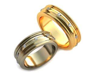 Обручальное кольцо 00012