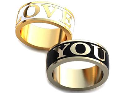 Обручальные кольца с именами (надпись)