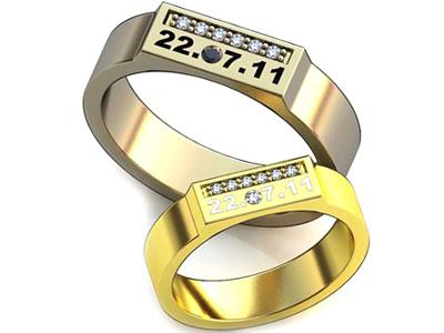 Обручальное кольца с датами
