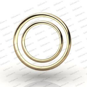 Классическое обручальное кольцо (желтое золото)