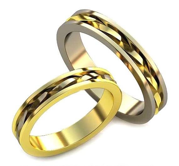 Плетёные Обручальные кольца обр0037