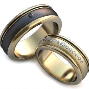 Изготовление обручальных колец из золота заказчика