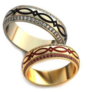 Обручальные кольца с узорами обр0081