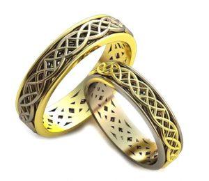 Обручальные кольца с узорами обр0083
