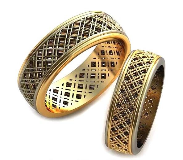 Обручальные кольца с узорами обр0085