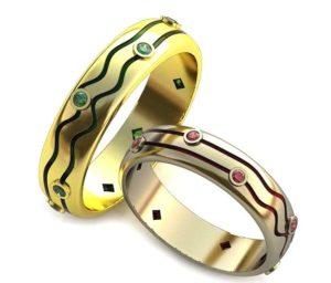 Обручальные кольца с узорами обр0087