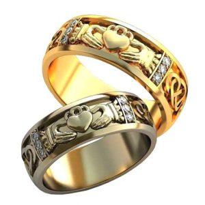 Обручальные кольца с узорами обр0125