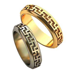 Обручальные кольца с узорами обр0141