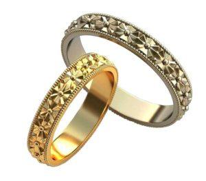 Обручальные кольца с узорами обр0149