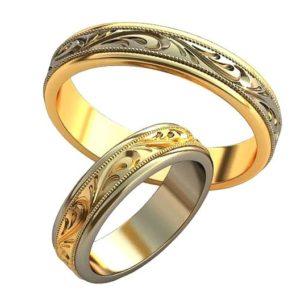 Обручальные кольца с узорами обр0156