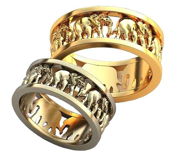 Обручальные кольца с узорами обр0161