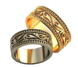 Обручальные кольца с узорами обр0166