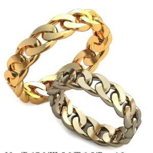 Плетёные обручальные кольца обр0038