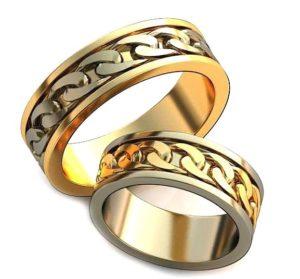 Плетёные обручальные кольца обр0039