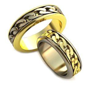 Плетёные обручальные кольца обр0040