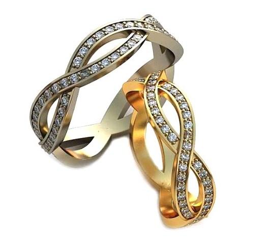 Плетёные обручальные кольца обр0111
