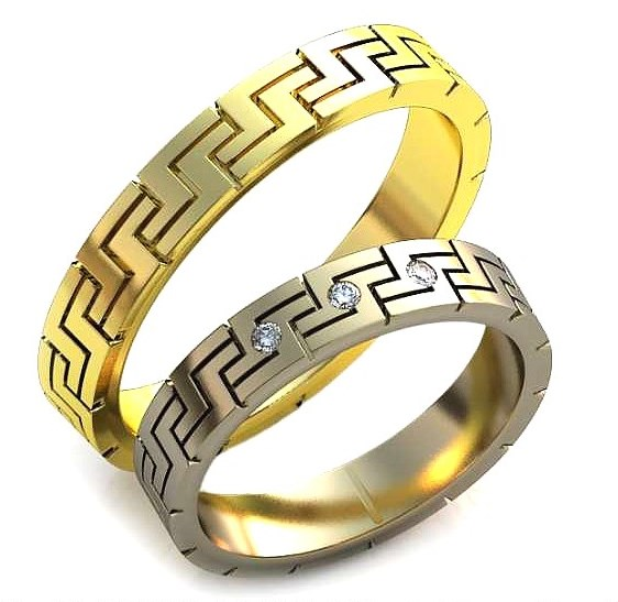 Плетёные обручальные кольца обр0281