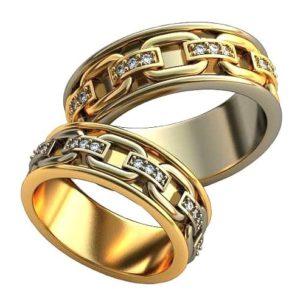 Плетёные обручальные кольца обр0394