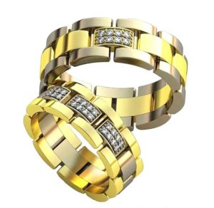 Плетёные обручальные кольца обр0408