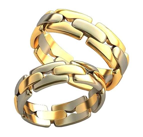 Плетёные обручальные кольца обр0409