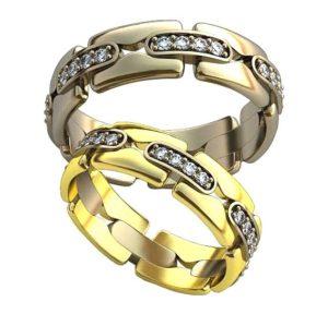 Плетёные обручальные кольца обр0410