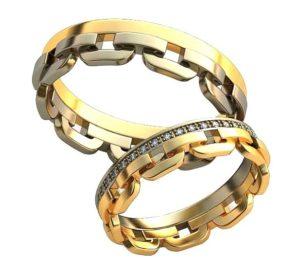Плетёные обручальные кольца обр0420