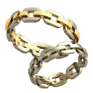 Плетёные обручальные кольца обр0421
