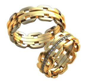 Плетёные обручальные кольца обр0422