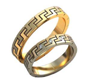Плетёные обручальные кольца обр0455