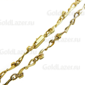 Глидерная цепочка из желтого золота на заказ