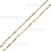 Глидерная цепочка на шарнирах на шею из желтого и белого золота