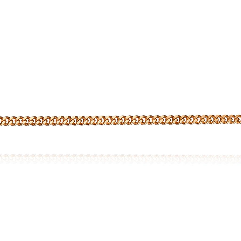 Золотая цепочка плетение Панцирное одинарное