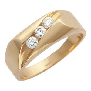 Мужское золотое кольцо бриллиант