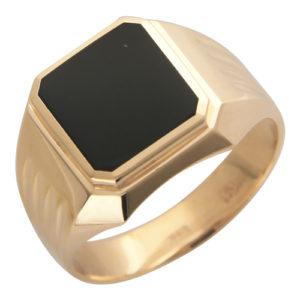Мужское кольцо Оникс