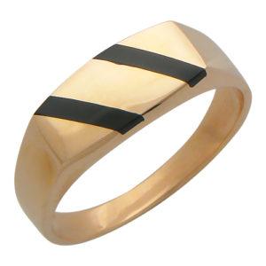 Мужское золотое кольцо оникс