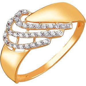 Кольцо с 32 фианитами из красного золота (арт. ж-7776к)