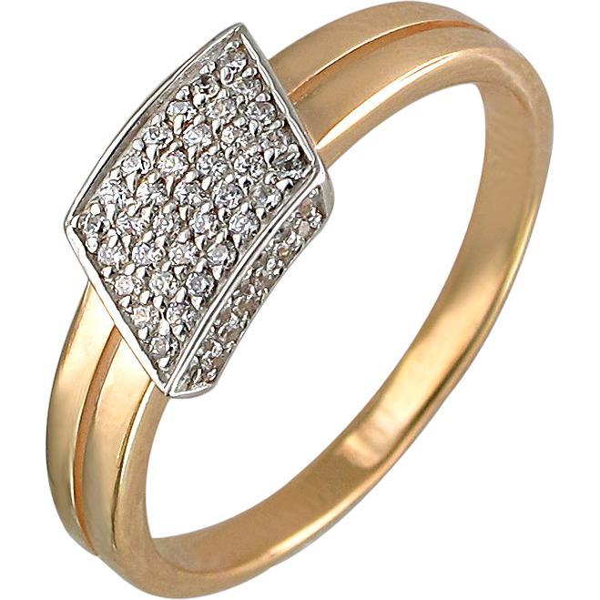 Кольцо с фианитами из красного золота (арт. ж-8449к)