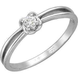 Кольцо с 1 фианитом из белого золота (арт. ж-7814к)