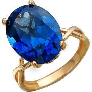 Кольцо с 1 сапфиром из красного золота (арт. ж-7881к)