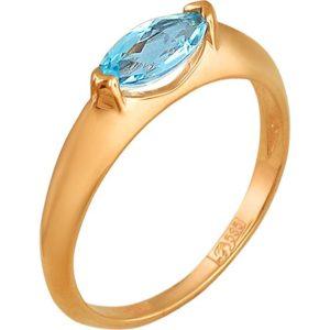 Кольцо с 1 топазом из красного золота (арт. ж-7807к)